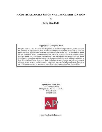Printables Values Clarification Worksheet values clarification worksheet inventory personal a critical analysis of apologetics press