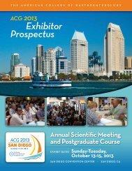 Exhibitor Prospectus - ACG - American College of Gastroenterology