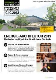 ENERGIE-ARCHITEKTUR 2013