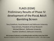 FLAGS - European Association for the Study of Gambling
