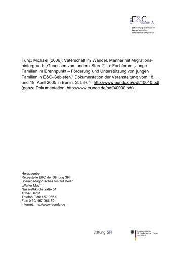 Vaterschaft im Wandel – Männer mit Migrationshinter - Das Väter ...