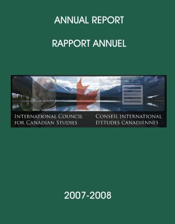 annual report rapport annuel 2007-2008 - Conseil international d ...