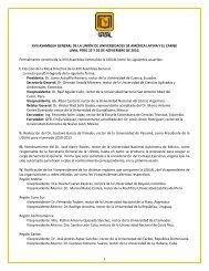XVII Asamblea General - Universidad Nacional de La Plata