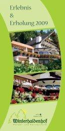 Erlebnis & Erholung 2009 - Hotel Winterhaldenhof