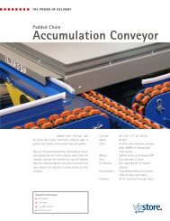 Padded Chain Accumulation Conveyor - Viastore Systems