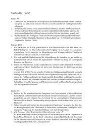 Themen der schriftlichen Examensprüfung in den letzten Jahren