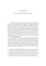 Le forme del funzionalismo giuridico - Docente.unicas.it