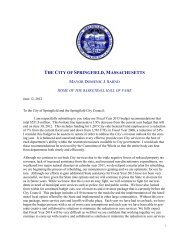 Budget message and Executive summary - City of Springfield