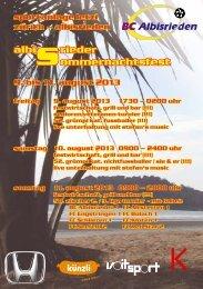 albi rieder ommernachtsfest s 9. bis 11. august 2013 - BC Albisrieden