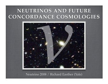 NEUTRINOS AND FUTURE CONCORDANCE COSMOLOGIES