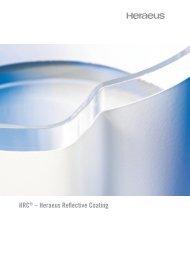 HRC® – Heraeus Reflective Coating - Heraeus Quarzglas