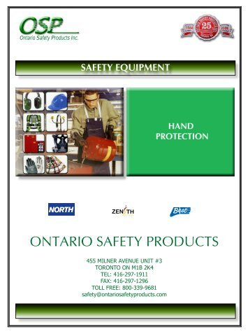 hand protection - ontario safety products