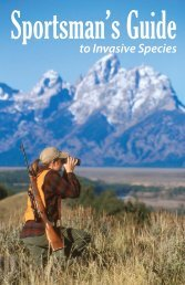 Sportsman's Guide to Invasive Species - Center for Invasive Plant ...