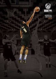 2012 BBNZ Annual Report - Basketball New Zealand