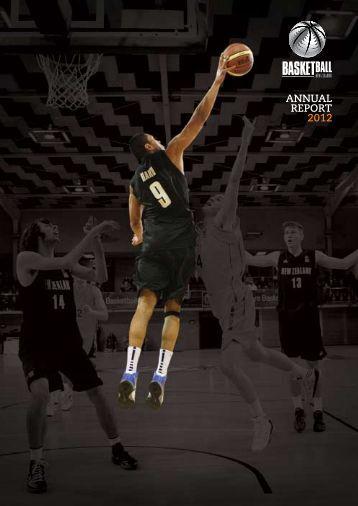 2012 BBNZ Annual Report - Basketball New Zealand