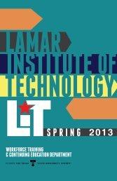 Spring 2013 Schedule - Lamar Institute of Technology