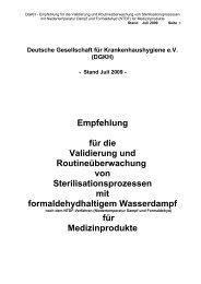 Empfehlung für die Validierung und Routineüberwachung von ...