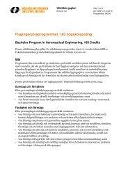 Flygingenjörsprogrammet, 180 hp (pdf 183 kB) - Mälardalens ...