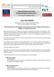 3rd event call for papers - Regional Studies Association