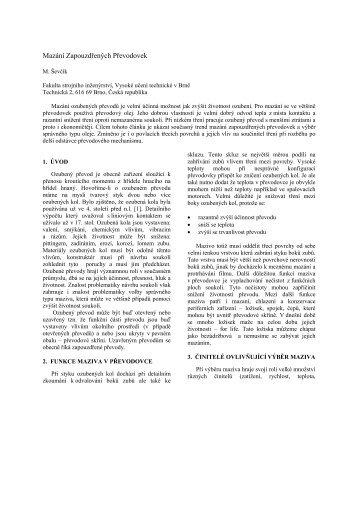 článek PDF - Vysoké učení technické v Brně