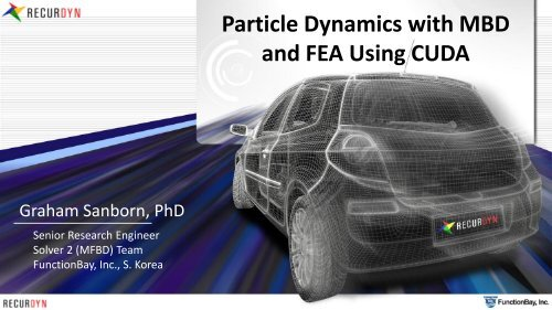 Particle Dynamics with MBD and FEA Using CUDA