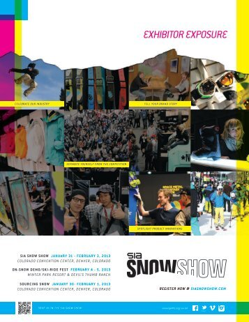 EXHIBITOR EXPOSURE - SIA Snow Show