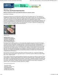 Scientific American: The Once and Future Nanomachine
