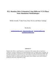 PLL Random Jitter Estimation Using Different VCO Phase Noise