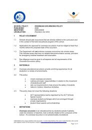 Overseas Excursion Policy - Education and Training Directorate ...