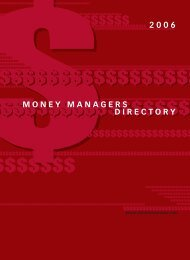 money managers directory 2006 - Benefits Canada