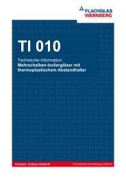 TI 010 Mehrscheiben-Isolierglas mit thermoplastischem Abstandhalter