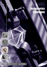 Mecmesin Accessories Catalogue