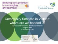 Community Services in Victoria: where are we headed ?? - NWHN