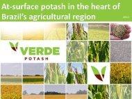 Apresentação do PowerPoint - Verde Potash Plc
