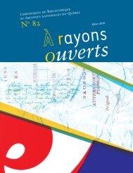 À rayons ouverts - Bibliothèque et Archives nationales du Québec