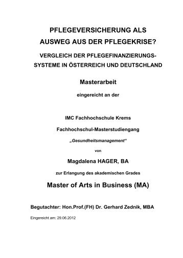 Master of Arts in Business (MA) - Arbeiterkammer