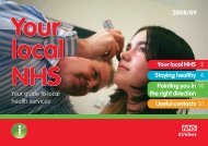 Your guide to local health services Staying healthy ... - NHS Kirklees