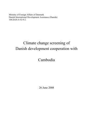 Climate change screening of Danish development ... - weADAPT