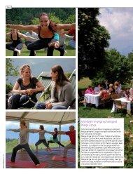 Wandelen en yoga op landgoed Malga Zanga