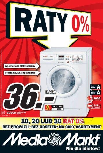 10, 20 LUB 30 RAT 0% - Media Markt