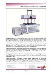 Type PTWS 100S - Globopharma