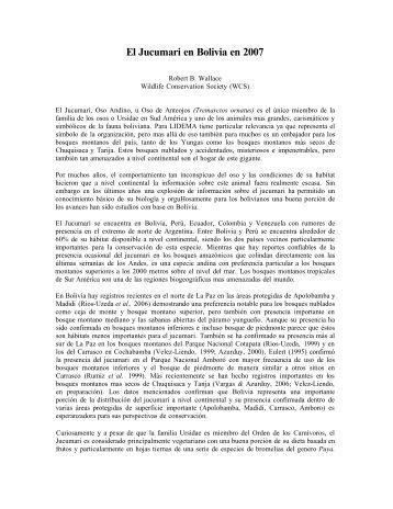 El Jucumari en Bolivia en 2007 - Amazon S3