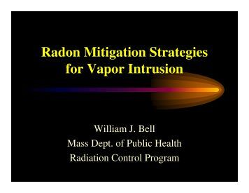 Radon Mitigation Strategies for Vapor Intrusion