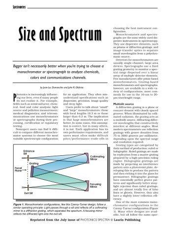 Choosing a Spectrometer - Horiba