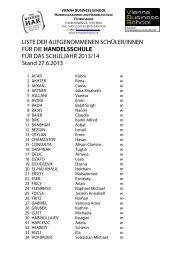 1. Klasse HAS 2013/2014 - VBS Floridsdorf