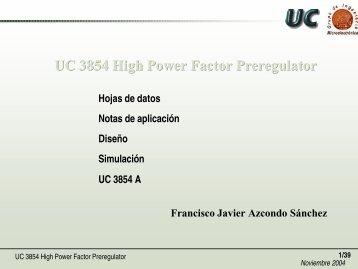 Controladores para Corrección del Factor de Potencia. El UC3854