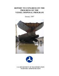 report to congress on the progress of the - Maritime Administration ...