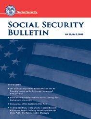 Download entire publication - Social Security