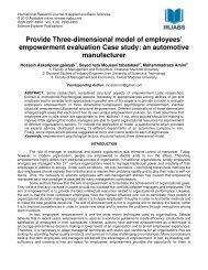 Provide Three-dimensional model of employees ... - irjabs.com