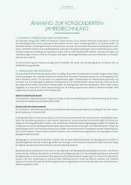 anhang zur konsolidierten jahresrechnung - 2012 - Straumann
